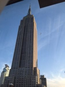 Photo of Empire State Building taken by Katie Barry at EFA Conference